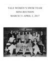 Yale Womens Varsity Swim Team Mini-Reunion Program 2017