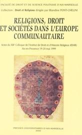 Religions Droit Et Soci T S Dans L Europe Communautaire