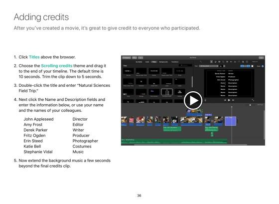 iMovie for Mac Starter Guide macOS Sierra on Apple Books