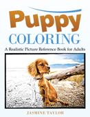 Puppy Coloring: A Realistic Picture Reference Book for Adults