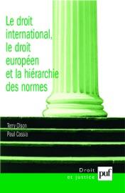 Le Droit International Le Droit Europ En Et La Hi Rarchie Des Normes