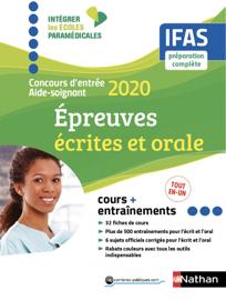 Concours aide-soignant - IFAS - Ecrit + Oral - Intégrer les écoles paramédicales - 2020