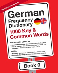 German Frequency Dictionary - 1000 Key & Common German Words in Context