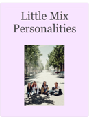 Little Mix Personalities