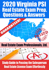2020 Virginia PSI Real Estate Exam Prep Questions & Answers: Study Guide to Passing the Salesperson Real Estate License Exam Effortlessly