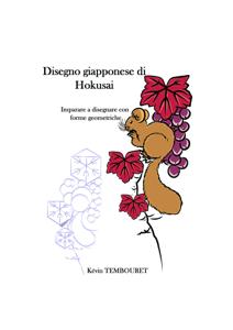 Disegno giapponese di Hokusai - Imparare a disegnare con forme geometriche Libro Cover