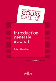 Introduction générale au droit - 13e éd.