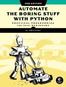 Automate the Boring Stuff with Python, 2nd Edition Book Cover