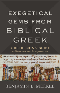 Exegetical Gems from Biblical Greek La couverture du livre martien
