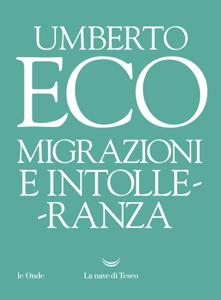 Migrazioni e intolleranza Libro Cover