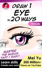Draw 1 Eye In 20 Ways - Female