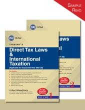 Taxmann's Direct Tax Laws & International Taxation (Set Of 2 Vols.)