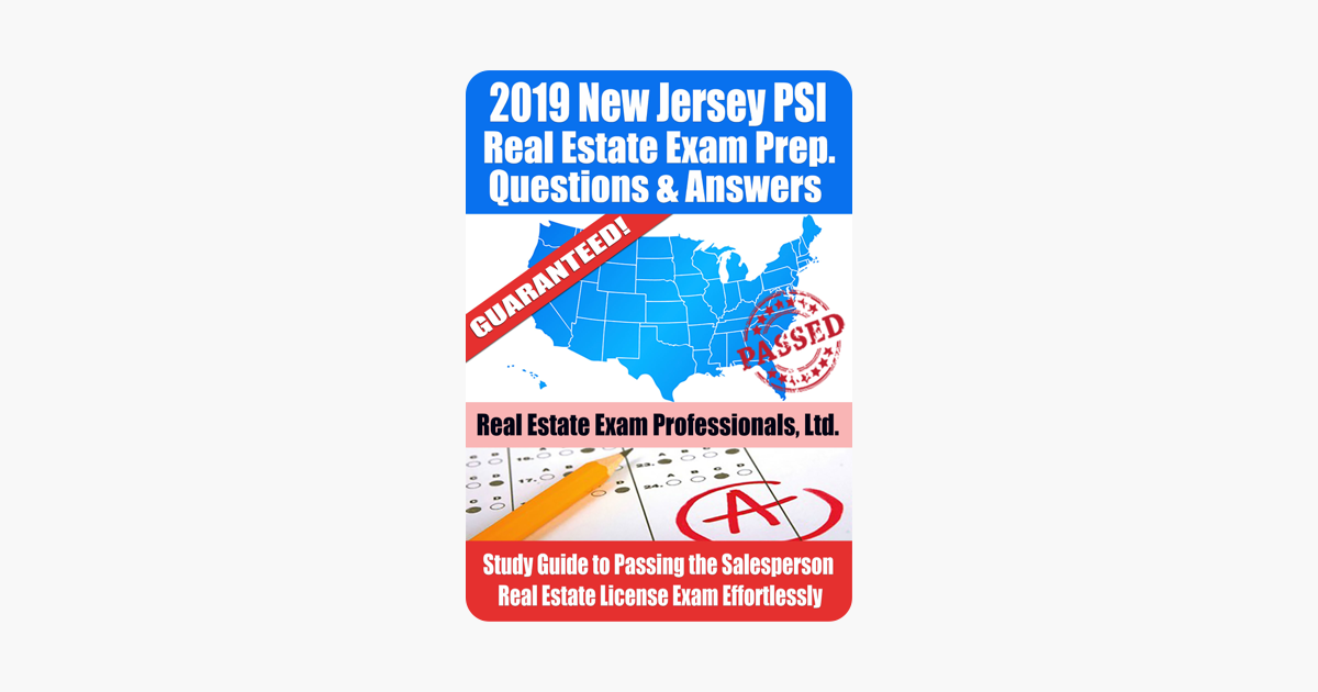 2019 New Jersey Psi Real Estate Exam Prep Questions Answers Explanations Study Guide To Passing The Salesperson Real Estate License Exam Effortlessly On Apple Books