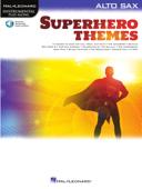 Superhero Themes Instrumental Play-Along for Alto Sax Book Cover