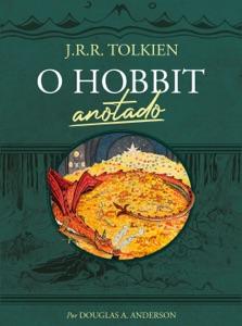 O Hobbit anotado de J.R.R. Tolkien & Douglas A. Anderson Capa de livro
