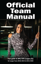 Official APA/CPA Pool Leagues Team Manual book