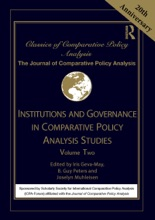 Institutions And Governance In Comparative Policy Analysis Studies