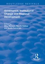 Governance, Institutional Change And Regional Development