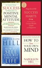 Napoleon Hill Collection 4 Books set 2: Success Through A Positive Mental Attitude, How to Own Your Own Mind, How to Sell Your Way Through Life, Success Habits.