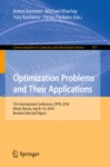 Optimization Problems And Their Applications