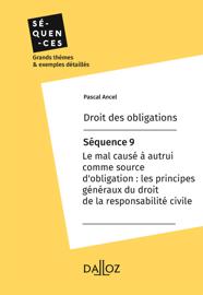 Droit des obligations - Séquence 9.Les principes généraux de la responsabilité civile