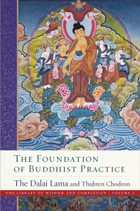 The  Foundation of Buddhist Practice La couverture du livre martien