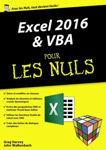 Excel 2016 et VBA pour les Nuls mégapoche Couverture de livre