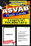 ASVAB Test Prep Essential Vocabulary Review--Exambusters Flash Cards--Workbook 1 Of 8