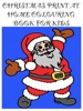 Christmas Print At Home Coloring Book For Kids