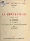La Perception Comme Mode De Raction Et Instrument De Progrs