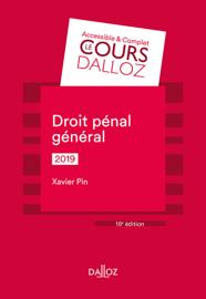 Droit pénal général 2019