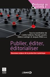 Publication édition éditorialisation numériques