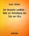 Der Hessische Landbote  Rede Zur Verteidigung Des Cato Von Utica