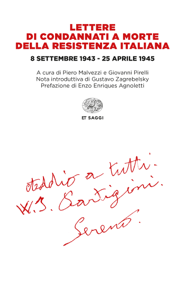 Lettere di condannati a morte della Resistenza italiana Libro Cover