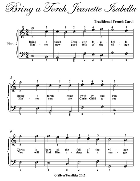 bring a torch jeanette isabella easiest piano sheet music by traditional french carol on apple books