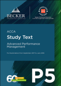 ACCA Approved - P5 Advanced Performance Management (September 2017 to June 2018 Exams)