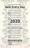 Universalis Publishing - New Every Day 2020 artwork