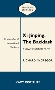 Xi Jinping: The Backlash La couverture du livre martien