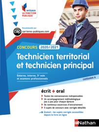 Concours Technicien territorial et Technicien principal - Intégrer la fonction publique - 2020/2021