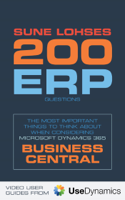 Sune Lohse - 200 Erp Questions: The Most Important Things To Think About When Considering Microsoft Dynamics 365 Business Central artwork