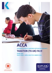 ACCA - Taxation (TX - UK) (FA19)