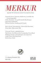 MERKUR Gegründet 1947 als Deutsche Zeitschrift für europäisches Denken - 2020-11
