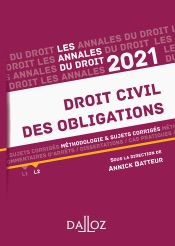 Annales Droit civil des obligations 2021