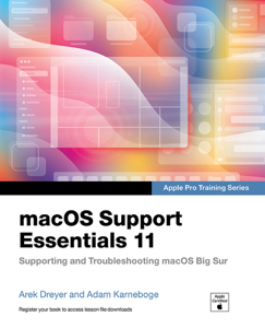 macOS Support Essentials 11 Apple Pro Training Series: Supporting and Troubleshooting macOS Big Sur Copertina del libro