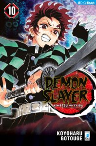 Demon Slayer - Kimetsu no yaiba 10 Copertina del libro