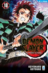 Demon Slayer - Kimetsu no yaiba 10 Copertina del libro