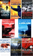 The Bourne Trilogy Series Collection Robert Ludlum 8 Books Set