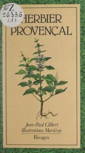 Herbier provençal La couverture du livre martien