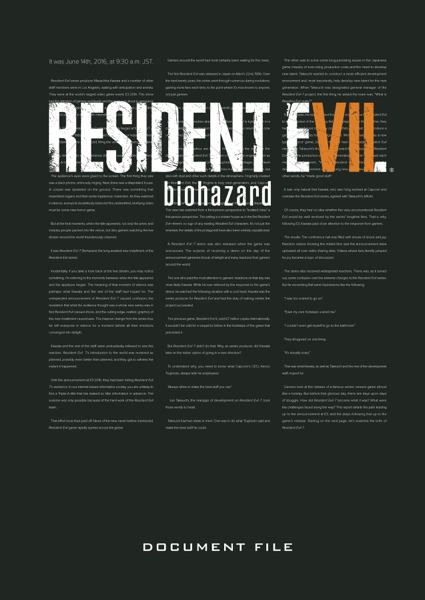 Resident Evil 7: Biohazard Document File