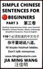 Simple Chinese Sentences For Beginners (Part 3): Reading Comprehension Guide, Learn Essential Mandarin Chinese Phrases, Idioms, And Meanings (Simplified Characters, Pinyin & English)